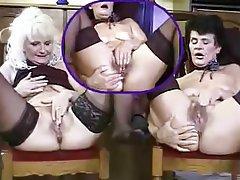Cunnilingus, Granny, Lesbian, Masturbation