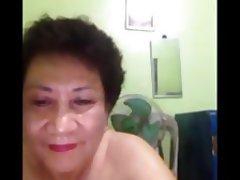 Granny, Handjob, Asian, Webcam