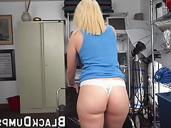 Blonde, Blowjob, Big Boobs, Interracial, Big Cock
