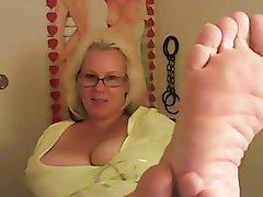 Big Boobs, Blonde, Foot Fetish, Webcam