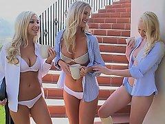 Lesbian, Threesome, Blonde, Erotic