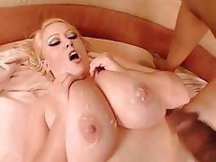 BBW, Big Boobs, Blonde, Masturbation, Pornstar