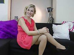 Amateur, Blonde, Foot Fetish, Stockings