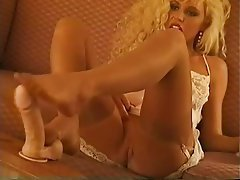 Babe, Blonde, Foot Fetish, Stockings