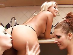 Ass Licking, Face Sitting, Lesbian, Threesome
