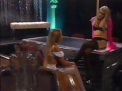 Lesbian, Blonde, Pantyhose, Lingerie