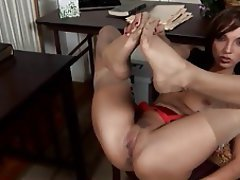 Babe, Foot Fetish, Softcore, Stockings