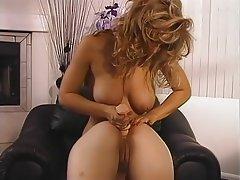 Blonde, Big Boobs, Lesbian, Pornstar, Strapon