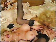 Big Boobs, Blonde, Lesbian, Lingerie, Threesome