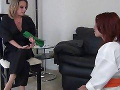 Foot Fetish, Lesbian, Stockings