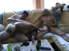 Amateur, Bisexual, Blowjob, Cumshot, Threesome