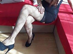 Amateur, BDSM, Femdom, Foot Fetish, Stockings