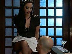 Brunette, Feet, Mistress, Maid